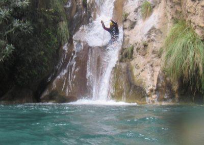 Barranquismo en Río Verde en Granada